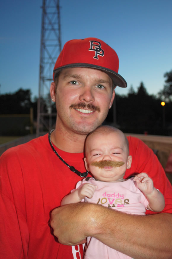 2010 Mustache Night winner Nick Volek - and daughter Presley